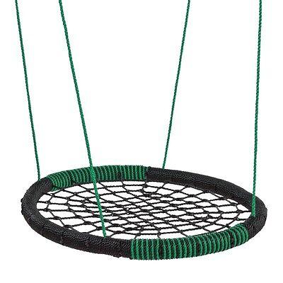 WICKEY Nestschaukel Oval Mehrkindschaukel Netzschaukel Rundschaukel 108x83,5 cm