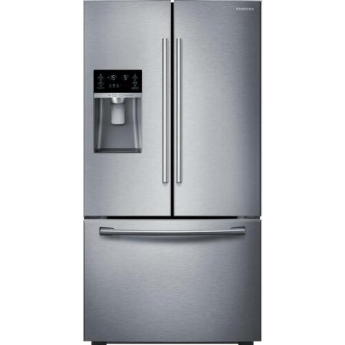 Samsung 28.1 Cu. Ft. French Door Refrigerator with Thru-the-Door Ice and Water Stainless Steel RF28HFEDBSR