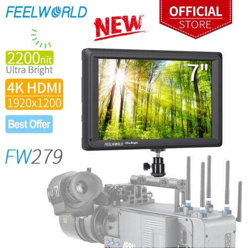 "FEELWORLD FW279 7"" Ultra Bright 2200nit IPS Camera Field Vid"