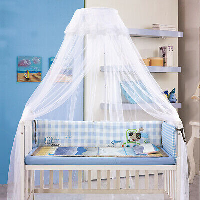Kids Baby Cot Bed Mosquito Net Curtain Canopy Dome Mesh Nursery Summer