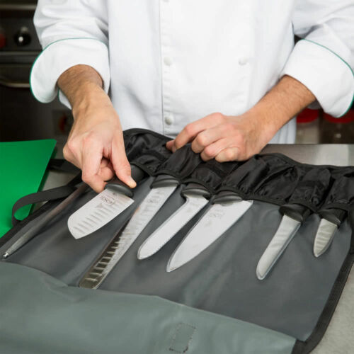 8 PIECE Black High Carbon Stainless Steel Chef Commerical Restaurant Knife Set