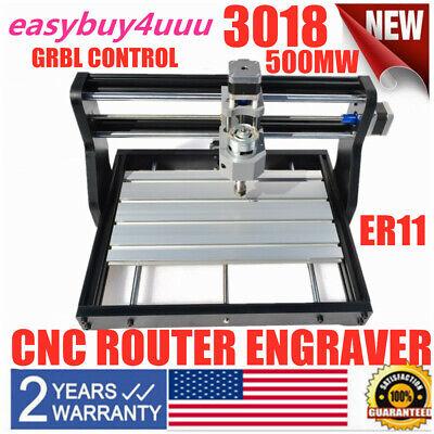 Metal Cnc Mini Engraver 3018 Pro Cnc Router Machine Pcb Milling 500mw Diy Laser