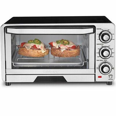Cuisinart Custom Classic Stainless Steel Toaster Oven Broiler TOB-40