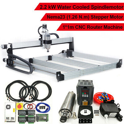 2.2kw Water Cooled Spindle 4 Axis Cnc Engraver Engraving Cutting Machine 1000mm