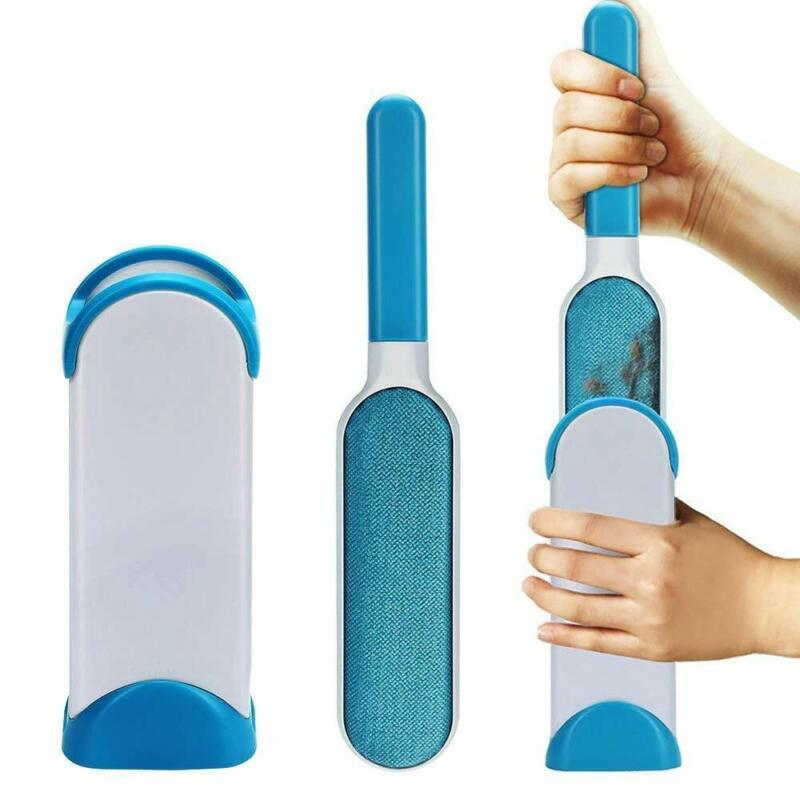 Pet Hair Remover Brush Fur & Lint Removal Brush Cleaner With Self Cleaning Base