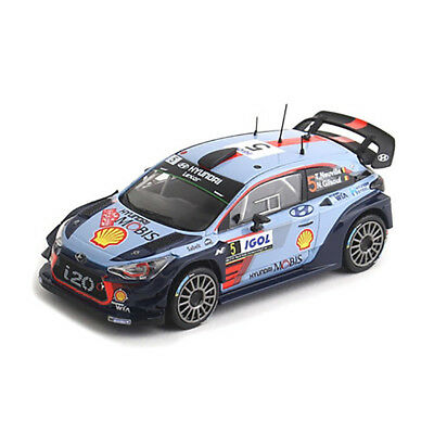 Toys Diecast Miniature 2017 Rally Winner Mini Car for Hyundai i20 Coupe WRC