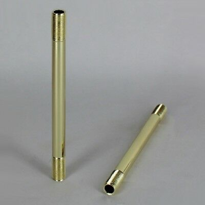 POLISHED BRASS STRAIGHT LAMP PIPE ~ Lamp Making or Repair { 19 Lengths }