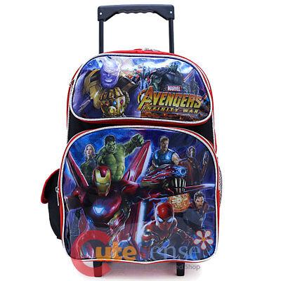 Große Rollen Rucksack (Marvel Avengers Schule Roller Rucksack 40.6cm Groß Einkaufswagen Rollen Tüte Aiw)