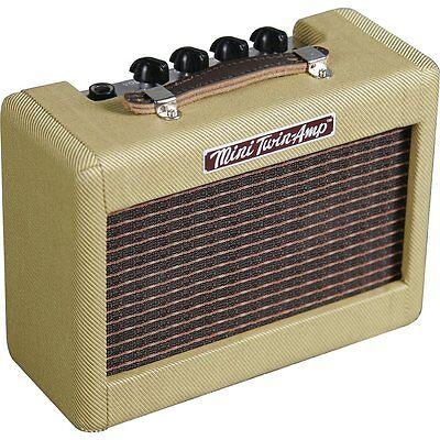 Fender 57 Mini Twin Practice Portable Small Travel 1-Watt Electric Guitar Amp