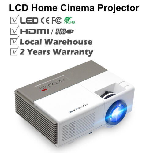 CAIWEI LED LCD Home Theater Projector HDMI Multimedia Movies Night Xbox HD 1080p