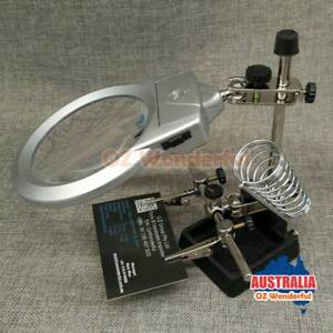 LED HELPING HAND CLIP LED MAGNIFYING SOLDERING IRON STAND MAGNIFI Epping Whittlesea Area Preview