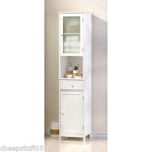 Lakeside tall storage cabinet bathroom storage linen tower - Tall bathroom storage cabinets with doors ...