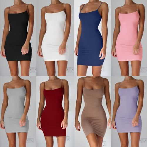 Bodycon Dress Women Sexy Dress Spaghetti Strap Mini Dresses