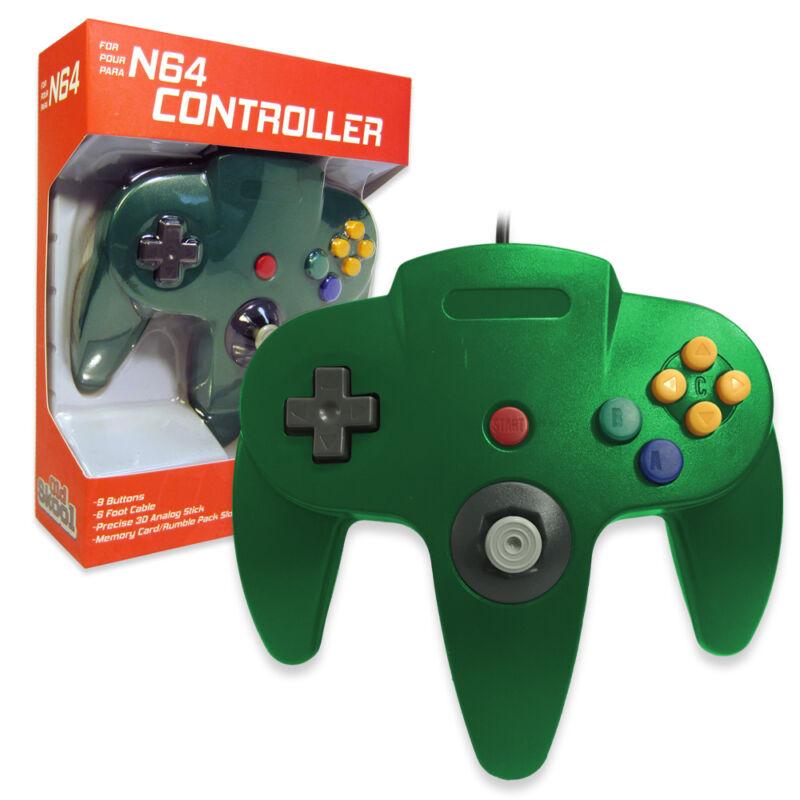 Nintendo 64 CONTROLLER GREEN  N64 *OLD SKOOL* New In Box!!