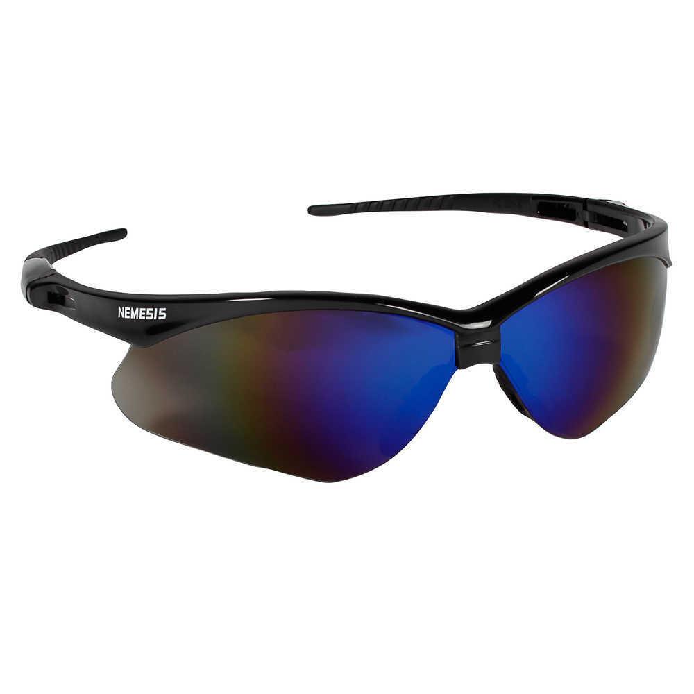 Jackson Nemesis V30 Safety Glasses/Sunglasses Various Colors & Quantities  14481 - Black Frame/Blue Mirror Lens