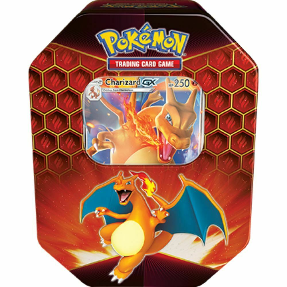 IN HAND Pokemon TCG Hidden Fates Tins Set of 2 Charizard Gyrados NEW Fast Ship