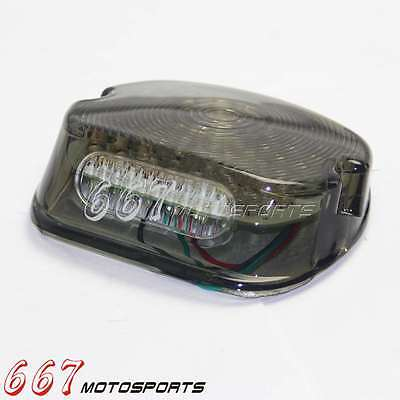 LED Laydown Tail Light Brake Lamp For Harley Electra Glides FXST Dyna Road Kings