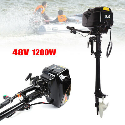 Best HANGKAI 5HP Electric Boat Outboard Motor Engine 12kW 48V 20