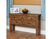 Shipton Rustic Oak Console Table