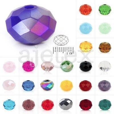 5040 72pcs Crystal Czech Spacer Glass Beads Rondelle Faceted fit Jewelry - 5040 Spacer
