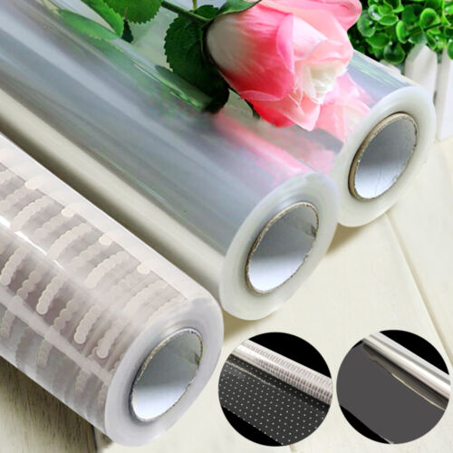 100M X80CM CELLOPHANE ROLL FILM PLAIN CLEAR THICK FLORIST HAMPER GIFT WRAP CRAFT