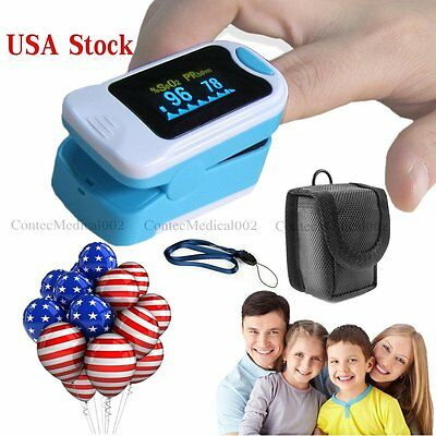 Us Shipping Oled Fingertip Spo2 Oximeter Pulse Rate Blood Oxygen Heart Ratecase