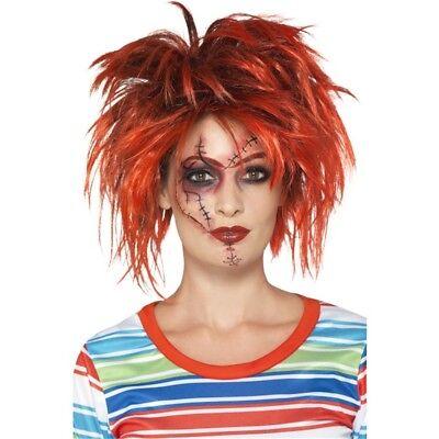 Chucky Makeup Kit Black & Red With Makeup Brush Tattoo & Transfers - Halloween (Chucky Makeup)