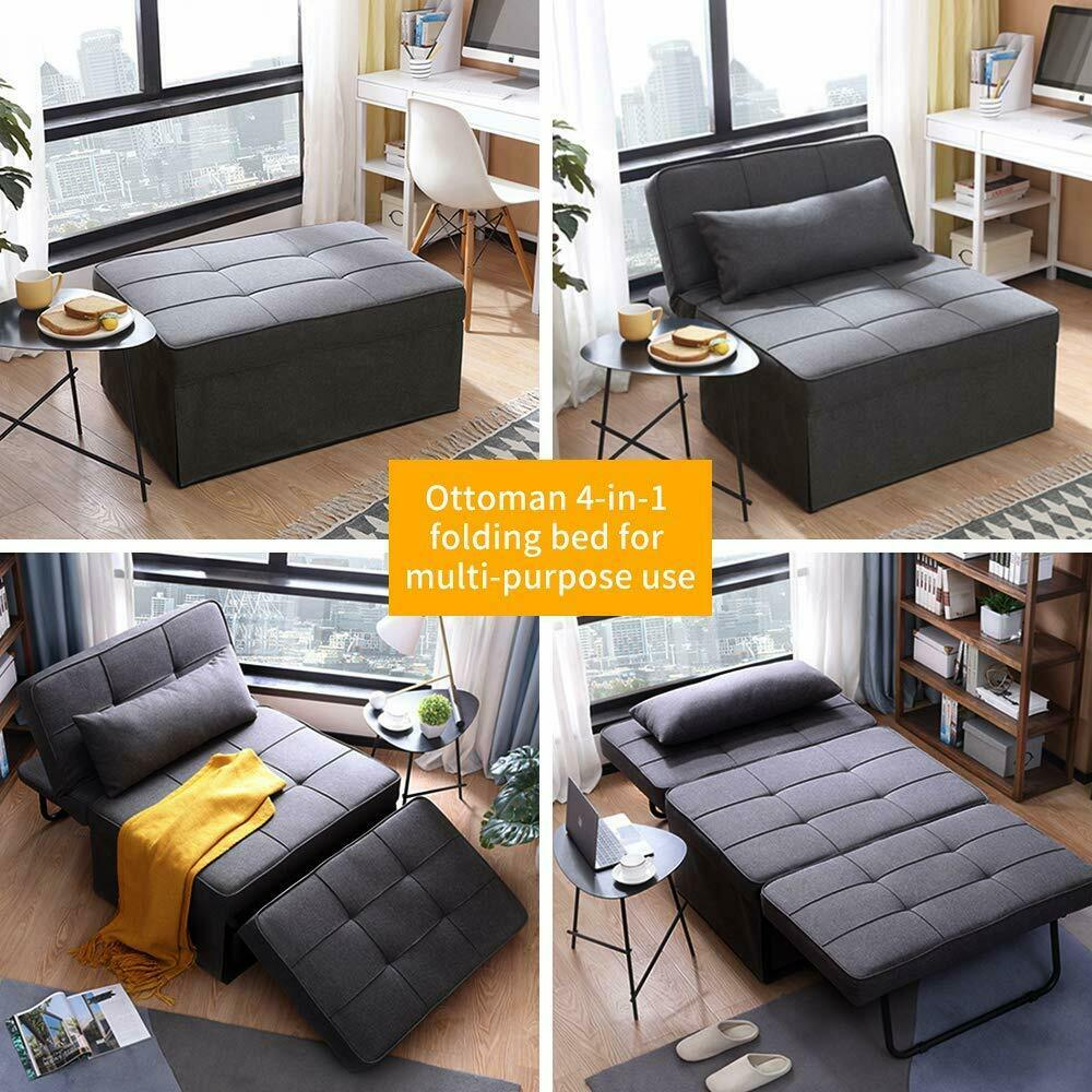 Adjustable Sofa Bed Folding Reclining Convertible Chair/Ottoman Arm Chair 2