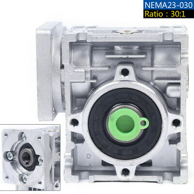 Gearbox Nmrv30 Turbo-worm Gear Reducer Ratio 301 Square Flange For Nema23 Usa