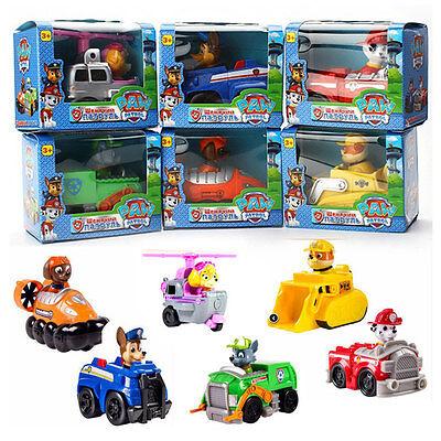 Set of 6 Paw Patrol Racer Chase Everest Ryder Zuma Skye MS Character Figure Toy