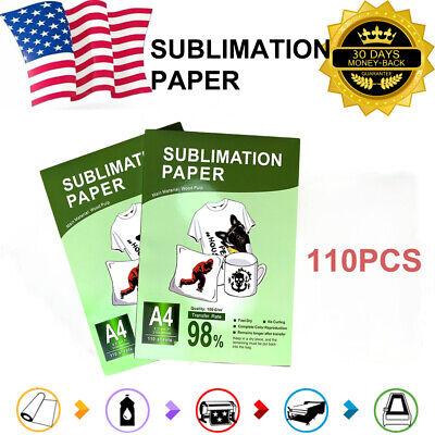 Heat Press Sublimation Transfer Paper 110sheets On T-shirt Mug For Injet Printer
