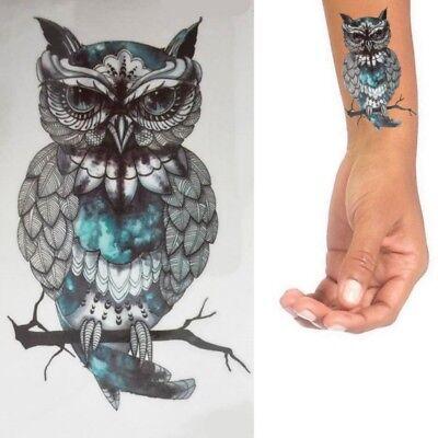 Einmaltattoo Vogel - Temporary Tattoo -Aufkleber -Temporär Tattoo Eule -L009
