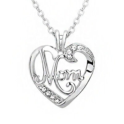 (1 Pc Mommy Mama Heart Gift Mother's Day Necklace Fashion Jewelry Pendants)