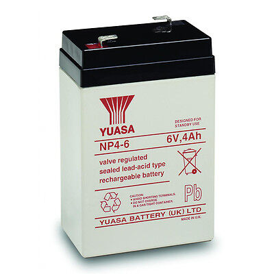 Yuasa 6V 4Ah Sla Battery Replacement For Enersys Np4 6