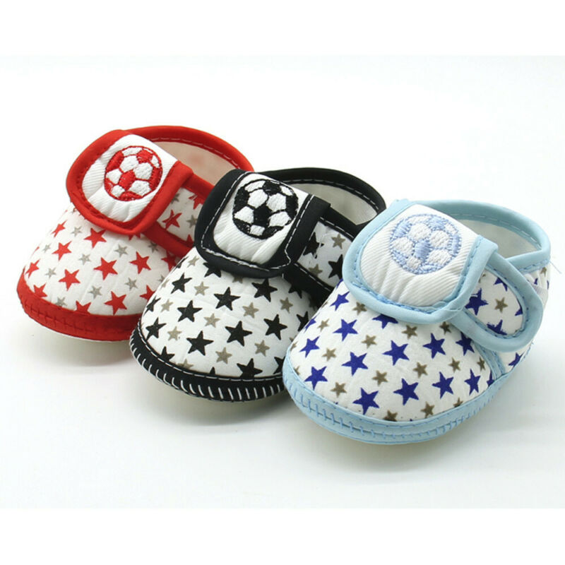 Newborn Infant Baby Star Girls Boys Soft Sole Prewalker Warm