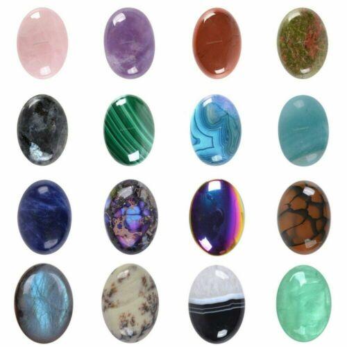 Wholesale 25mm Oval cabochon CAB flatback semi-precious gemstone Save $ in bulk