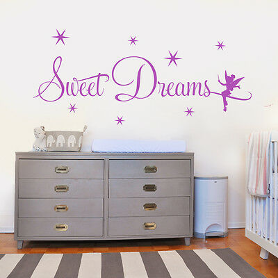 airy  STICKER  CHILDRENS BEDROOM stars girls bedroom decal (Sweet Dreams Girls)