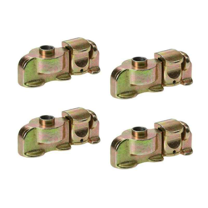 Double Stud L-Track Fitting w/ Bolt Thread - 4 Pack