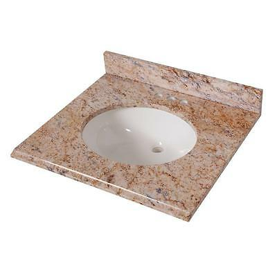 St. Paul SEO2522COM-TU 25 in. x 22 in. Vanity Top Tuscan Sun with White Basin