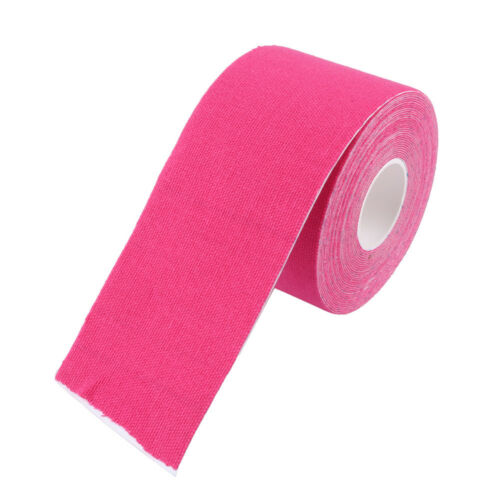 Pink 5M Kinesiology Sports Gym Muscles Care Elastic Physio Therapeutic Tape