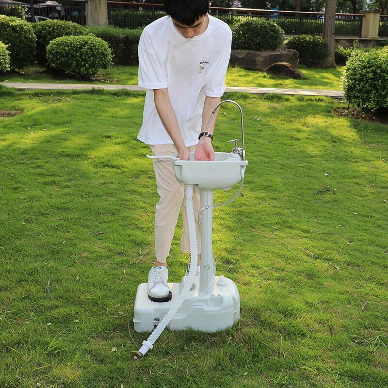Portable Outdoor Camping 19L Water Tank Wash Basin Soap Dispenser Faucet