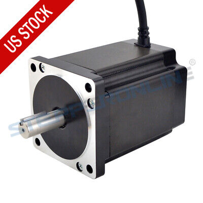 Nema 34 Stepper Motor 8.2nm 114mm 6a 14mm Key-way Shaft 4 Wires Cnc Lathe Router