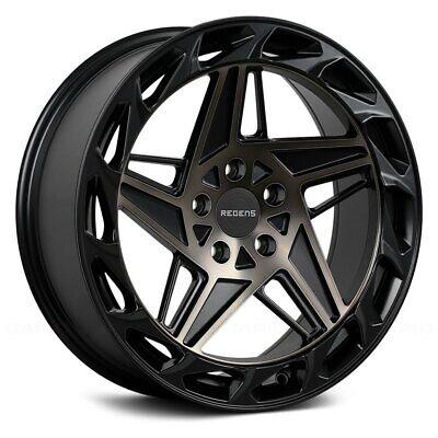 Regen5 R35 Wheels 18x9.5 (40, 5x112, 66.56) Black Rims Set of 4