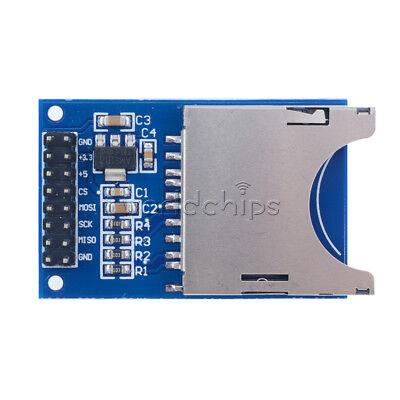 Blue Sd Card Module Slot Socket Read Write Spi For Arduino Arm Mcu Reader