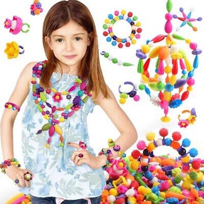 Pop Beads Set 260 PCS+ DIY Jewelry Making Kit Hairband Necklace Bracelet & Ring