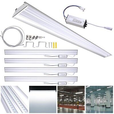 DELight® 4 PACK LED Shop Light 40W 5000K Fixture Garage Uti