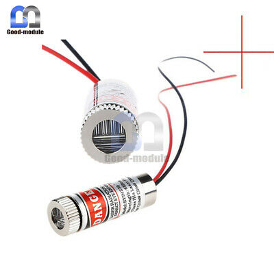 Adjustable 3-5v 5mw 650nm Red Focus Laser Diode Cross Line Lens Laserhead