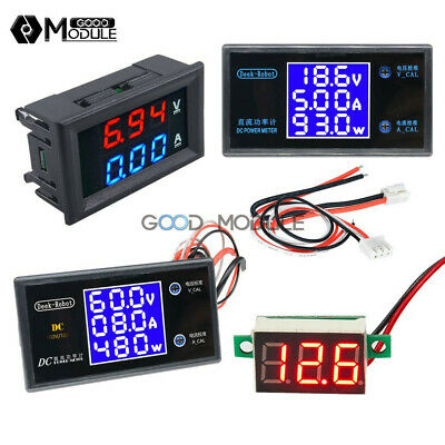 Dc 50v 5a 100v 10a Digital Voltage Current Power Meter Lcd Voltmeter Ammeter