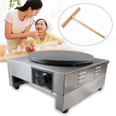 16 Heavy Duty Commercial Single Crepe Maker Electric Crepe Pan Maker 110v 3kw