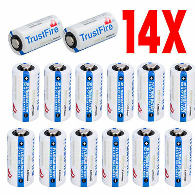 14 Pack Exp 2027 Usa Trustfire Flashlight 85177 Cr123a 3 Volt Lithium Batteries